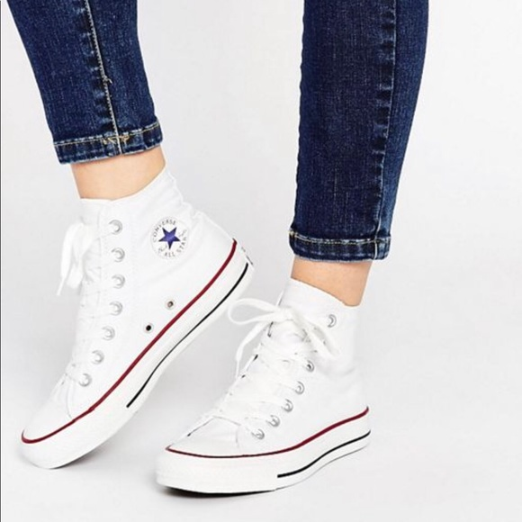 White Converse high tops Women